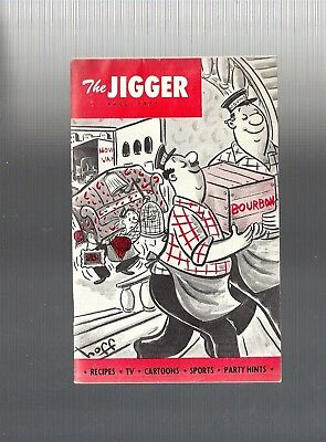 Collectible Vintage 1951 The JIGGER Bourbon, Whiskey Recipes and Misc Booklet