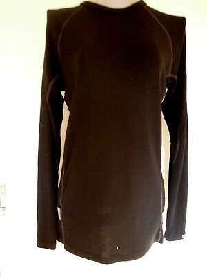 ICEBREAKER  SKIN200  100% Pure Merino  BLACK  Long Sleeve TOP  *Size SMALL