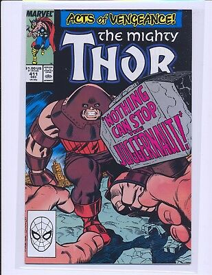 Thor # 411 - 1st New Warriors cameo NM- Cond.