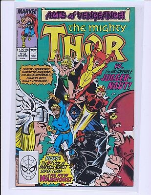 Thor # 412 - 1st full New Warriors VF+ Cond.