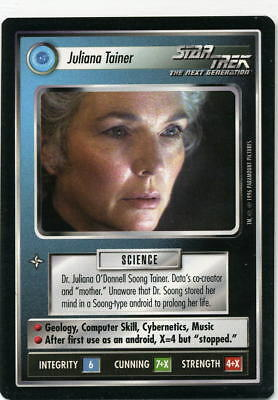 Star Trek CCG Q-Continuum, Juliana Tainer. Mt/Nr-Mt.