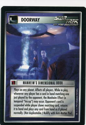 Star Trek CCG Q-Continuum, Manheim's Dimensional Door. Mt/Nr-Mt.
