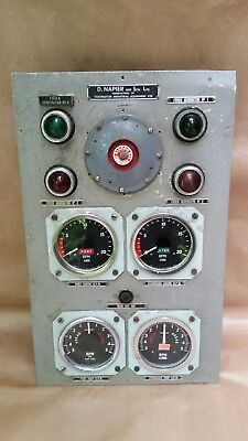 Rare D Napier & Sons English Ships Clock Dials Starboard Engine RPM Smiths Dials