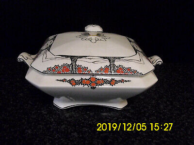 Art Deco Crown Ducal Ware England - Orange Tree Pattern - Serving Tureen