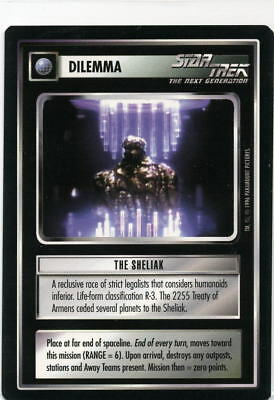 Star Trek CCG Q-Continuum, The Sheliak. Mt/Nr-Mt.