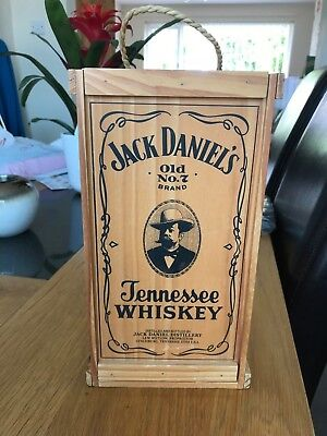 Jack Daniels Whiskey Wooden CD Holder Box. Takes 12 Albums Unused