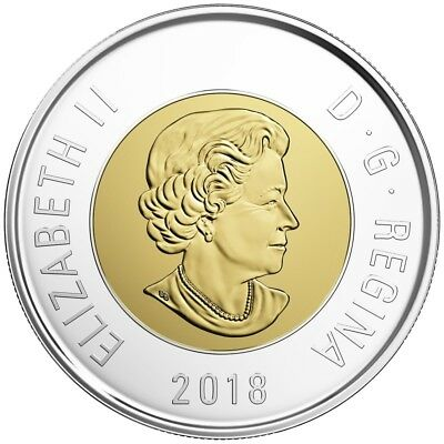 Canada 2018 Toonie $2 Coin Mint Grade Beauty.