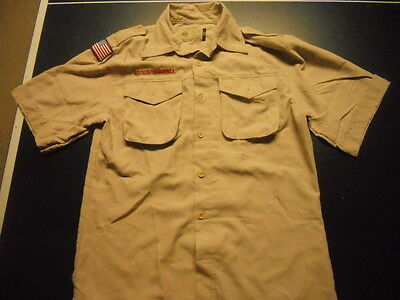 Lot Of 3 Mens Boy Scouts Short Sleeve Shirts Size Large Free Shipping