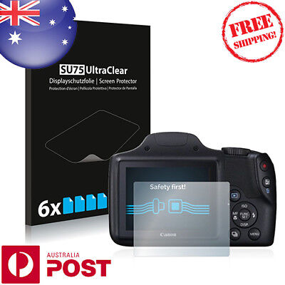 6x Savvies SU75 Screen Protector for Canon PowerShot SX520 HS - P036EF
