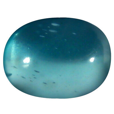 1.52 ct AAA Sparkling Oval Cabochon (8 x 6 mm) Brazilian Paraiba Blue Apatite