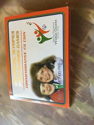 """Irland 5 Euro 2003 im Blister """" Special Olympics World Summer Games """""""