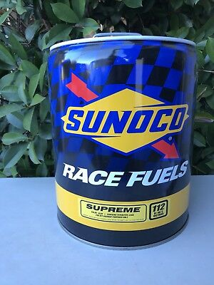 Sunoco 5 Gallon Racing Empty Fuel Gas Race Can Nascar Shop Garage Man Cafe