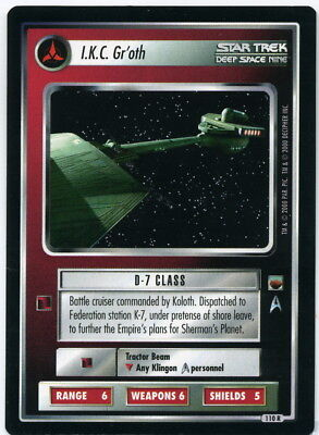 Star Trek CCG Trouble with Tribbles, I.K.C. Gr'oth. Mt/Nr-Mt.