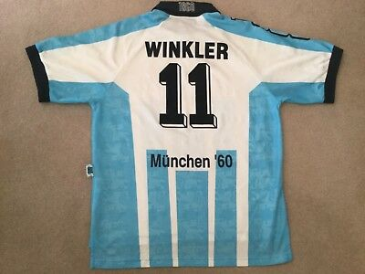 Munich 1860 Home Shirt Size 'L'  Blue/white Stripes Nike Winkler 11 No Reserve