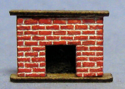 1/144th Scale Brick Fireplace kit  laser etched  made by sdk miniatures LLC