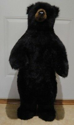 RARE (3ft) DITZ Designs Standing Black Bear with Brown Muzzle (Very Heavy& Firm)