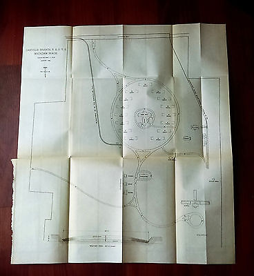 1899 Diagram Danville Branch Disabled Volunteer Soldiers N.H.D.V.S Macadam Roads