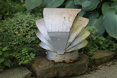 Vintage Galvanized Metal Chimney Roof Vent Smoke Stack Cover Finial Industrial