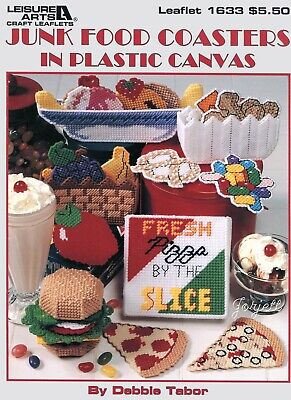 Junk Food Coasters ~ Coaster Sets & Magnets Fridgies plastic canvas patterns
