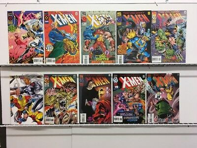UNCANNY X-MEN #320-329 Run Marvel Comics Set Lot Cable