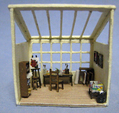 1/144th Scale Artist's studio kit designed by Susan Karatjas sdk miniatures LLC