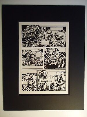1974 Man-Thing # 7 Mike Ploog Page 11 Production Art