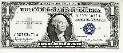 Series 1957   B    One Dollar Silver Certificate==Crisp Uncirculated Condition