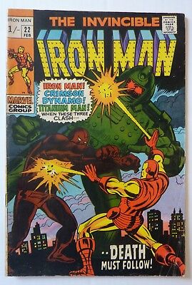 Iron Man 22 Silver Age 1969 NF/F Condition