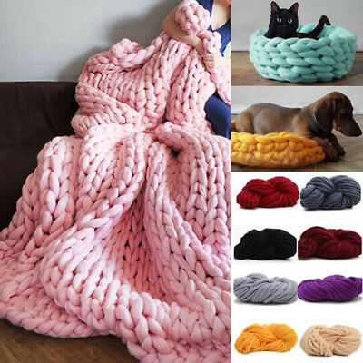 250g Super Thick Bulky Wool Yarn Soft Chunky Hand Knitting Hat Scarf Blanket
