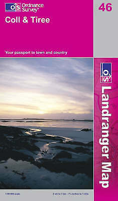 OS Landranger Map 46: Coll and Tiree (9780319229743) NEW WITH MARKS
