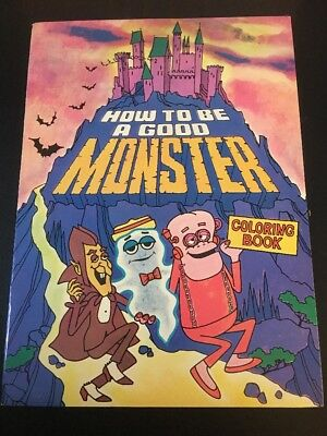 Vintage  1970 General Mills Premium How To Be A Good Monster Coloring Book Mint