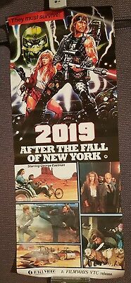 2019 AFTER THE FALL OF NEW YORK 80s Action K-TEL Video Poster VHS Memorabilia