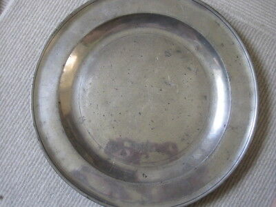 """Magnificent 16.5"""" Early 18Th C Pewter Charger, Probably John Duncumb 1718-1755"""