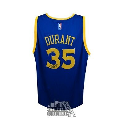 4cd891a9e7e Kevin Durant Autographed Golden State Warriors Swingman Basketball Jersey  Panini