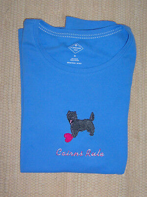 Cairn Terrier Ladies  BlueTee St. John's Bay Med