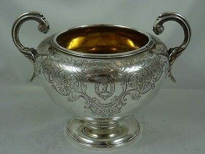 LARGE VICTORIAN silver SUGAR BOWL , 1845, 381gm