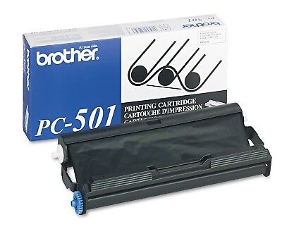 Brother Pc501 Thermal Transfer Print Cartridge Black Fax 575 150 Page - New