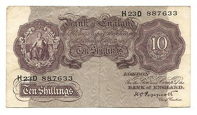 Great Britain 10 Shillings ND (1940-48) Fine+, Bank of England