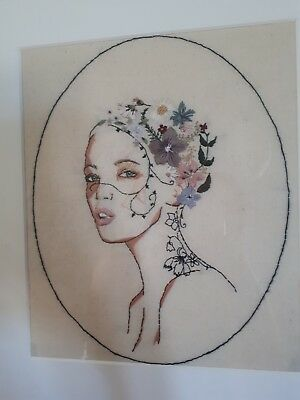 Hand Embroidered Portrait/art