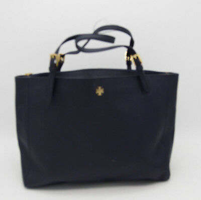 630a18aec8af A4754 PreOwned Tory Burch Leather  York Buckle Tote  in Tory Navy MSRP  295