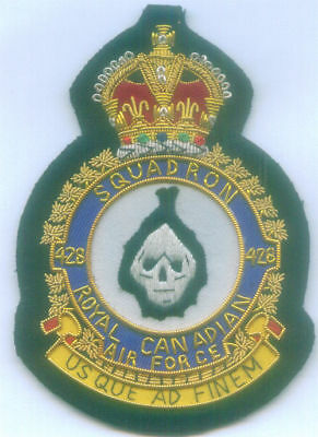 Canada UK RCAF RAF ? 428 Lancaster Bomber Ghost Squadron Fighter Force Patch F H
