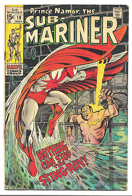 The Sub-Mariner # 19 Marvel Comics 1969 1st appearance Walter Newell Sting-Ray