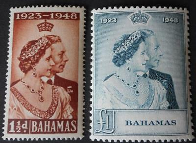 Bahamas 1948 GVI Silver Wedding set SG 194/195 u/mint