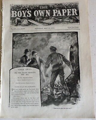 Victorian May 23 1896 Boys Own Paper:  Siam: Cricket: Mandolins: War: Postage Di