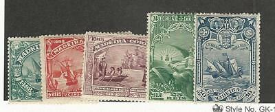 Madeira, Postage Stamp, #37-41 Mint Hinged, 1898 Portugal Colony