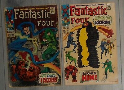 Fantastic Four # 65 & 67 , Low Grade Keys , 1St Appearance ,ronan / Adam Warlock