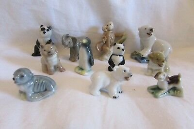 Wade First Whimsies Collection Of 11 Figures VGC Beagle Elephant etc