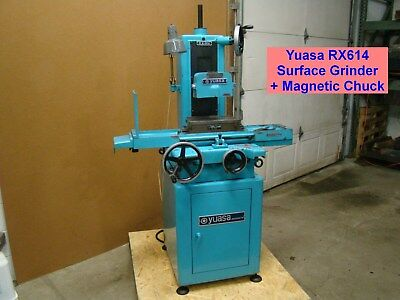 NICE! Yuasa RX614 Surface Grinder + Magnetic Chuck Grinding Machine Harig Mitsui