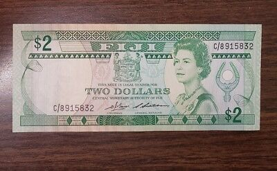 Fiji PK#82 2 dollars 1983 Uncirculated Banknote
