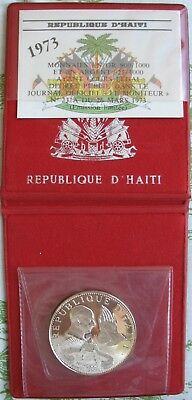 1974 Haiti Silver Proof 50 Gourdes Holy Year, Pope Paul  (Mintage-960)